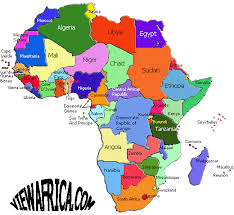 map with names of countries in africa map of countries of africa africa map