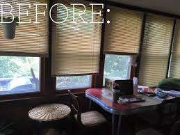 Curtains In Sunroom with Catherine Holman Folk Art Retro Sunroom Makeover And Reveal
