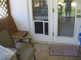 Patio Door With Pet Door Built In Installing Exterior Door With Built In Pet Door Door