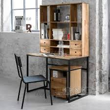 country vintage wrought iron wood desk home desktop computer desk