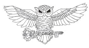 tribal horned owl tattoo design photos pictures and sketches