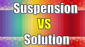 solution vs suspension difference between solution and