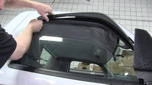 Ceiling Air Vent Deflector by Installation Of Weathertech Air Deflectors On A 2011 Ford Ranger