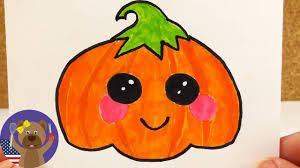 Halloween Birthday Ecards How To Draw A Cute Kawaii Halloween Pumpkin Decorate Invitations