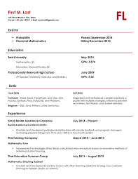 Actuary Resume Template How To Update A Resume Examples Resume Example And Free Resume Maker
