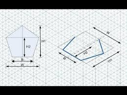 isometric drawing how to draw pentagon youtube