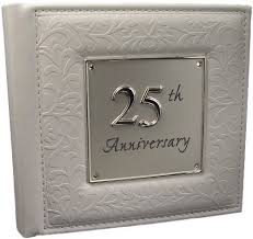25th wedding anniversary gifts 25th silver wedding anniversary gift photo album co uk