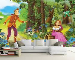online get cheap fairies forest 3d wall mural aliexpress com beibehang custom wall wallpaper home decoration murals fairy tale princess princess forest children room backdrop 3d