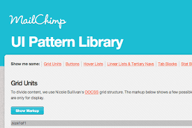 pattern library mailchimp maintain consistency with a website style guide
