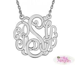 Monogrammed Necklace Sterling Silver 660 Best Monogrammed Jewelry Images On Pinterest Monogram