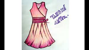 how to fashion sketch dress with water colour pencil youtube
