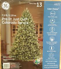 amazon com ge 7 5 ft pre lit colorado spruce full artificial