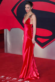 dress gal gal gadot v neck carpet dress batman v superman london