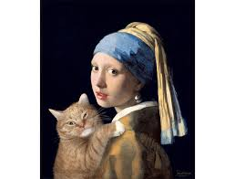 vermeer earring johannes vermeer girl with a pearl earring and a cat