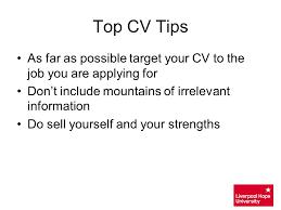 cv tips cv writing techniques ppt