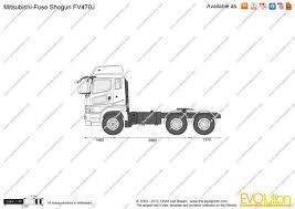 mitsubishi truck 2000 the blueprints com vector drawing mitsubishi fuso shogun fv470j