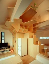 Amazing House Design Interior In Stair Area With Wooden Interior - Amazing house interior designs