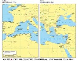 Map Of Mediterranean Countries Www Rotterdamtransport Com World Port Maps