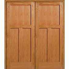 Wood Interior Doors Home Depot Mmi Door 73 5 In X 81 75 In Unfinished Red Oak 3 Panel Flat