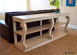 ana white console table sofa tables sofatrendy diy simple sofa table ana white rustic x