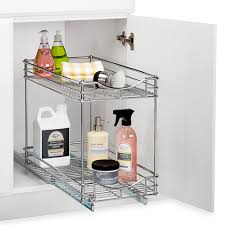 lynk under cabinet storage lynk 11 inch roll out under sink double drawers drawers bathroom