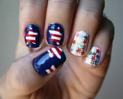 nail art designs for the 4th of july rose gold lining