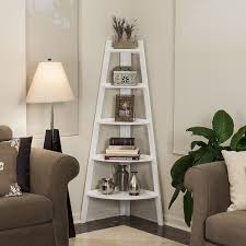 amazon com danya b five tier corner ladder white display