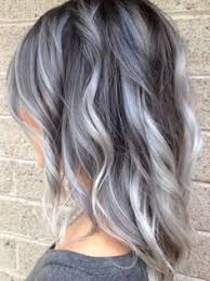 shag haircut brown hair with lavender grey streaks if you re looking for a way to give your hair a break and rock