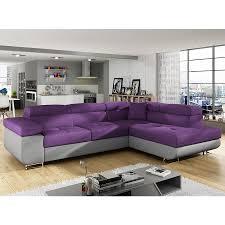canapé convertible violet canapé d angle convertible violet en tissu 7 canapé d angles