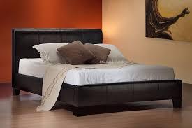 express delivery u003d u003d u003d modern faux leather bed frame black brown