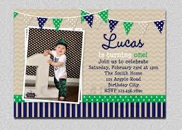 preppy bunting boys birthday invitation navy green birthday