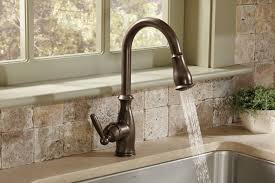 one kitchen faucets moen 7185orb brantford one handle high arc pulldown kitchen faucet
