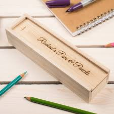 pencil box personalised wooden pencil box gettingpersonal co uk
