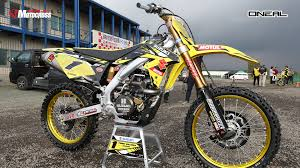 250cc motocross bikes japan spy photos 2017 suzuki rm z 250 450 transworld motocross