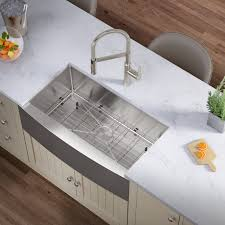 metal kitchen sink and cabinet combo allora usa kh 3621f r15 combo 36 x 21 x 10 farmhouse
