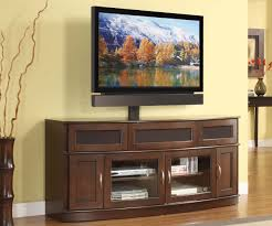 Tv Cabinet Wall Mounted Wood Furniture Nature Brown Wood Big Screen Tv Stand Cabinet With