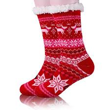 fuzzy christmas socks womens fleece christmas fuzzy thick warm winter slipper socks