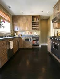 Dark Wood Floor Kitchen by Dark Floors Light Cabinets Google Search Home Pinterest