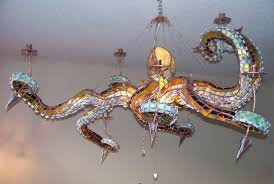 octopus lamp octopus table lamp turquoise coastal nautical ocean