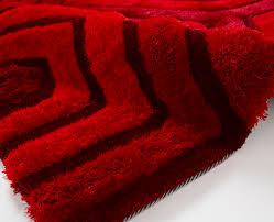 Red Rug Indulgence Hexagon Modern Soft Red Rug Martin Phillips Carpets