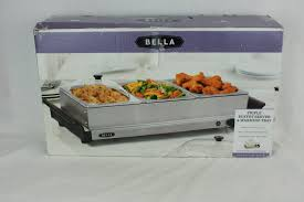 bella triple buffet server warming tray stainless what u0027s it worth