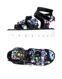 msgm sandals in black lyst
