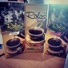 Teh Rolas Wonosari rolas original tea print and packaging