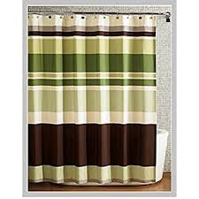 Brown Floral Shower Curtain Amazon Com Fabric Shower Curtain Multi Color Printed Striped