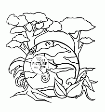 different plants on the earth earth coloring page for kids