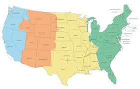 usa map with time zones and cities usa time zones map timebie united states map showing states and