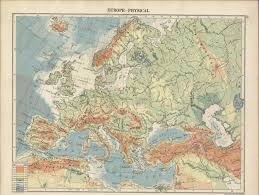 Physical Map Of Europe by Hipkiss U0027 Scans Of Old Europe Maps