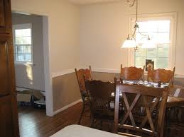 nice two tone dining room walls part 12 chair railjpg lovely