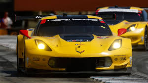 corvette racing in class at le mans 24 test day
