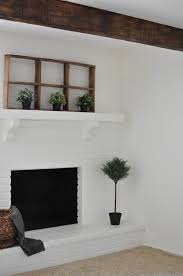 diy how to paint your brick fireplace u2014 the copper anchor